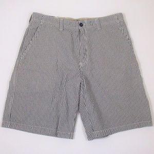 New Izod 32 Salt Water Chino Shorts Seersucker